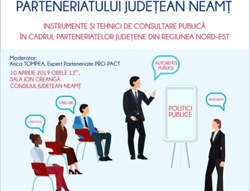 ÎNTÂLNIREA DE LUCRU A PARTENERIATULUI NEAMȚ 10 aprilie 2019